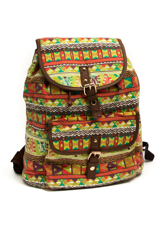 Tribe Vibe Drawstring Backpack LIMEMULTI