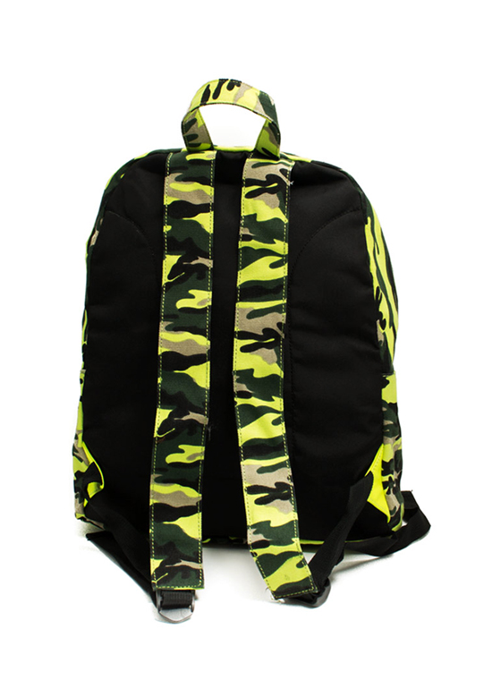 Embellished Camo Print Backpack NEONYELLOW