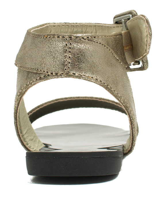 Singled Out Metallic Sandals GOLD