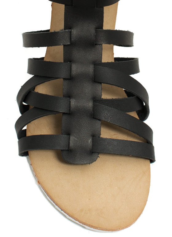 Hot Cross Straps Sandals BLACK