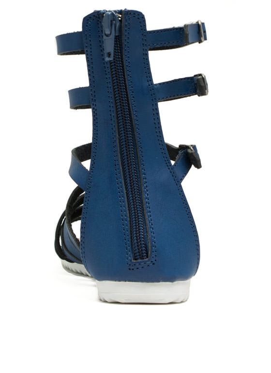 Hot Cross Straps Sandals BLUE