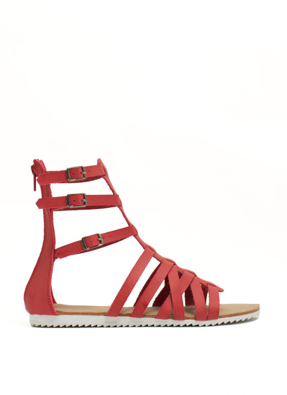 Hot Cross Straps Sandals CAYENNE