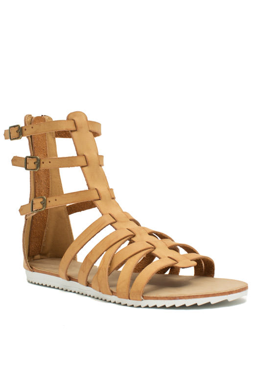 Hot Cross Straps Sandals CHESTNUT