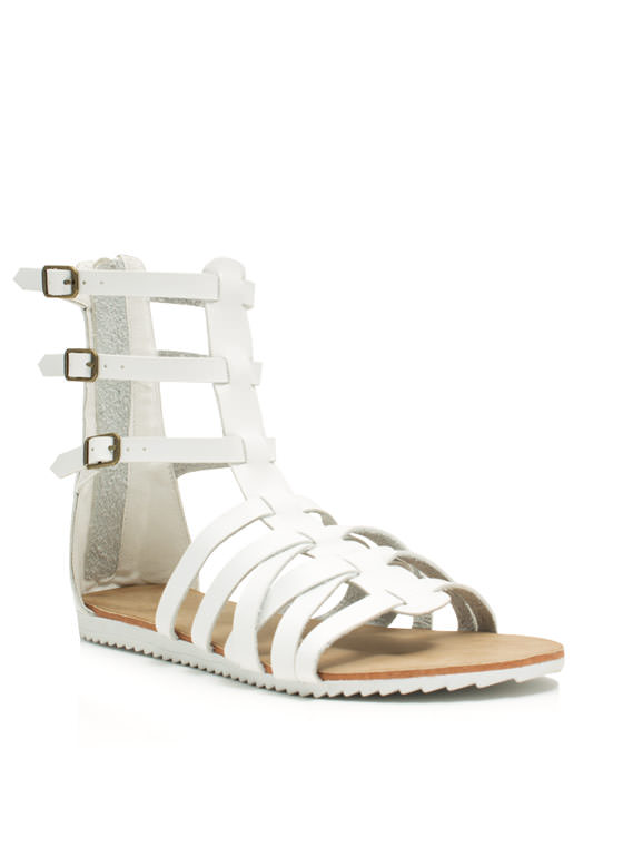 Hot Cross Straps Sandals WHITE