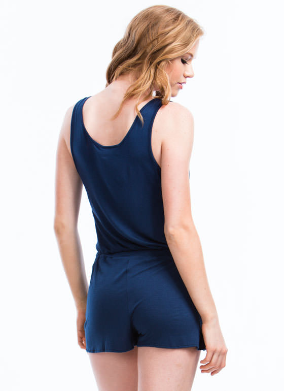 Keep It Simple Romper BLUE