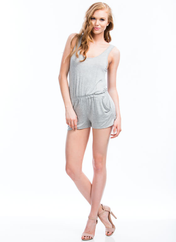 Keep It Simple Romper HGREY