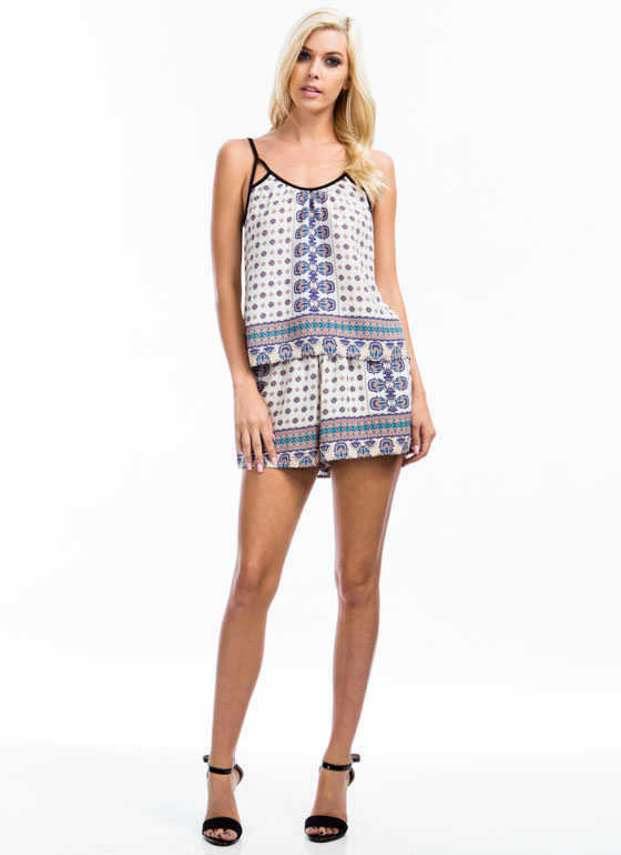 Wandering Nomad Cut-Out Cami IVORY