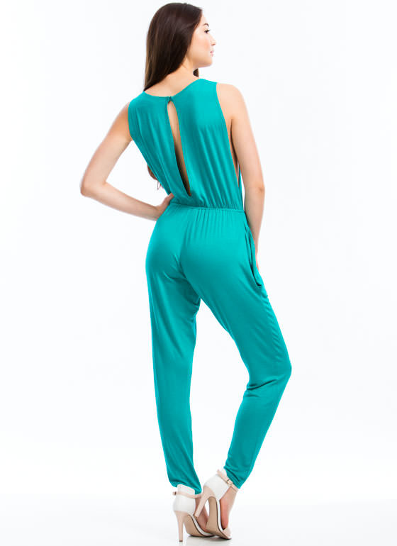 Basic Sleeveless Jumpsuit JADE