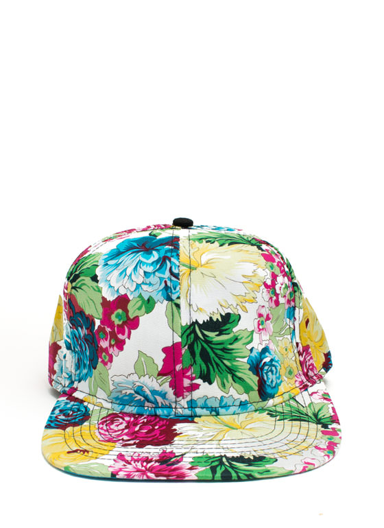 NYC Floral Snapback WHITEMULTI