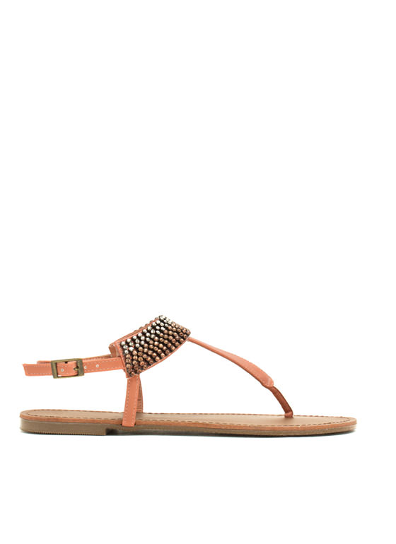 Jewel Me Twice T-Strap Sandals MELON