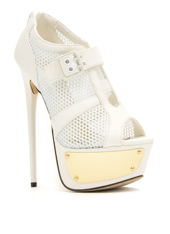Sport Of Queens Strappy Mesh Platforms WHITE (Final Sale)