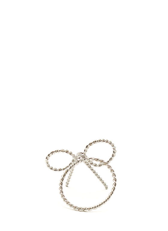 Textured Bow Ring SILVER