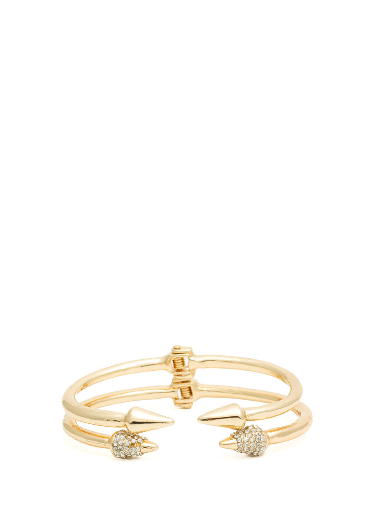 Spiked Bracelet Duo GOLD