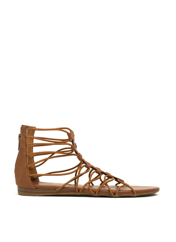Get Loopy Gladiator Sandals CHESTNUT