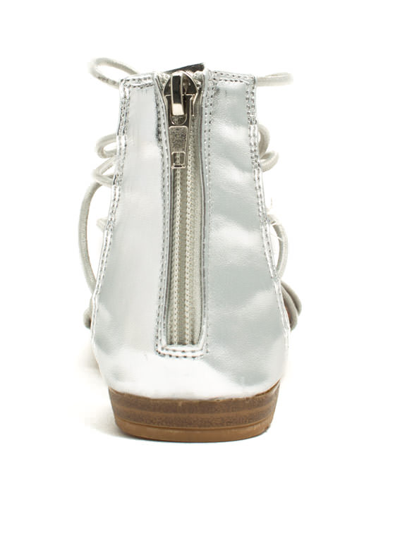 Get Loopy Gladiator Sandals SILVER