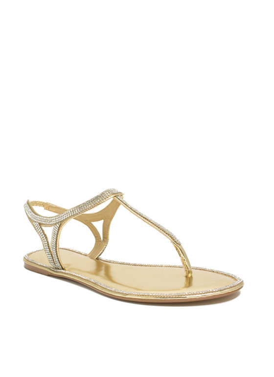 All Around Town Jeweled Sandals GOLD
