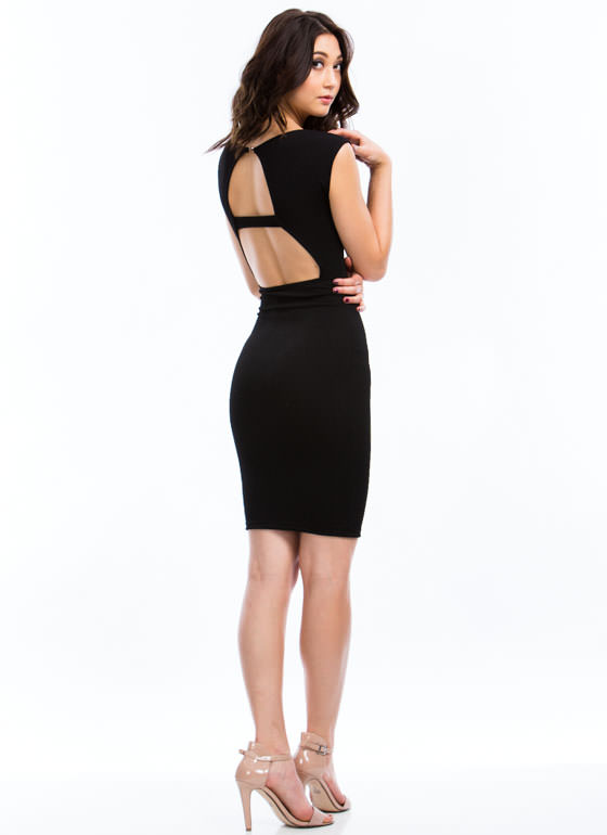 Totally Audrey Cut-Out Dress BLACK