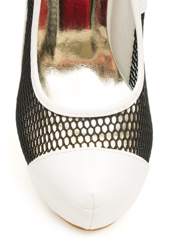 Good Sport Mesh Heels BLACKWHITE