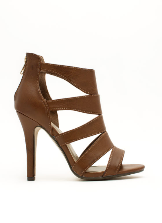I See You Cut-Out Heels TAN