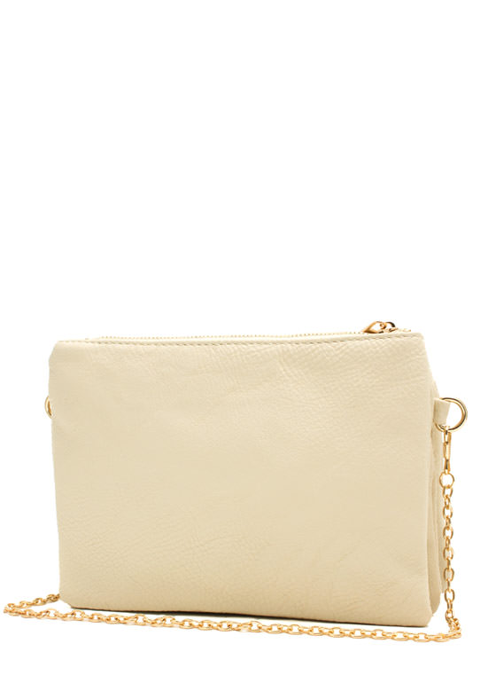 Triple Compartment Crossbody Bag IVORY