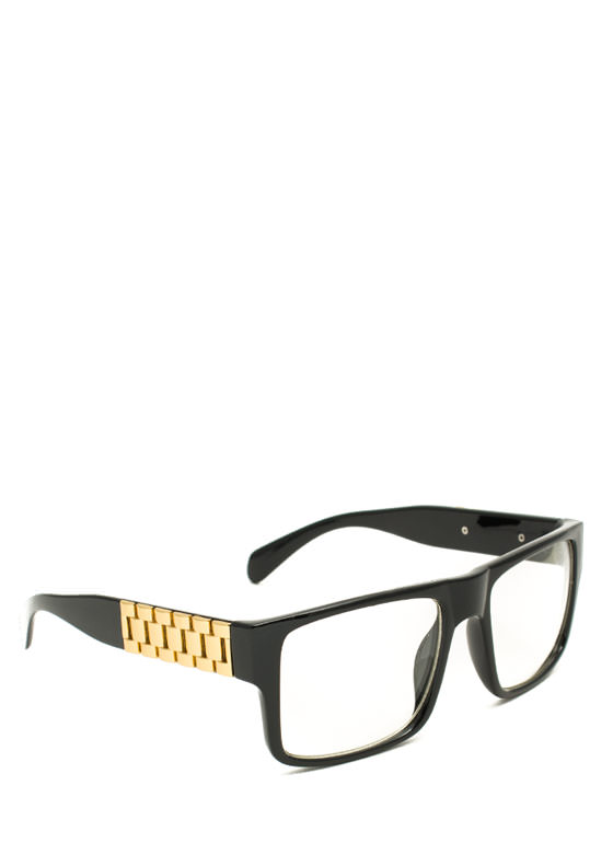 Square Link Glasses BLACKGOLD