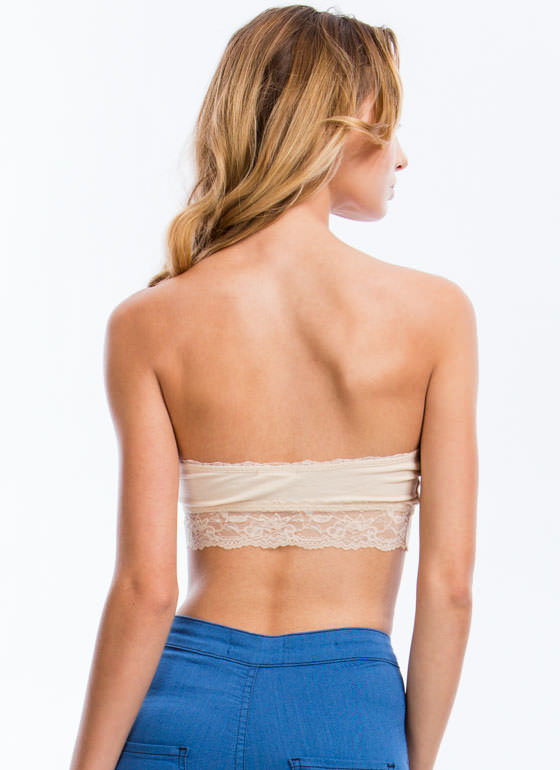 Lace Get Ready To Rumble Bandeau NUDE