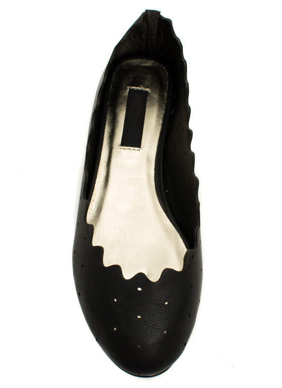 Ride The Waves Perforated Flats BLACK