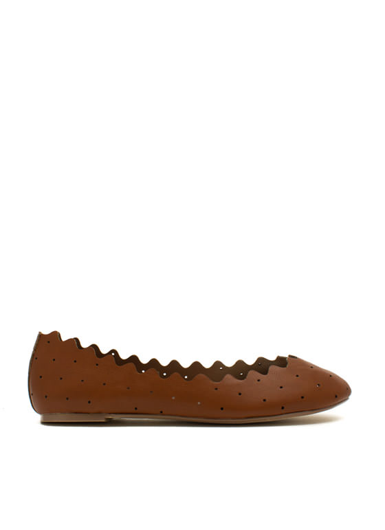 Ride The Waves Perforated Flats CHESTNUT