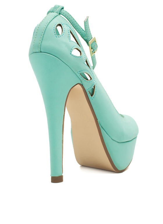 Cut-Out For This Ankle Strap Heels MINT