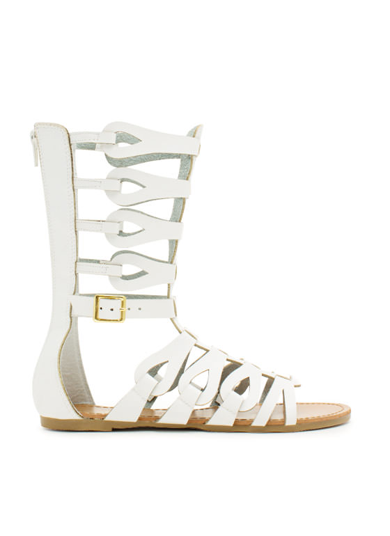 In The Loops Gladiator Sandals WHITE