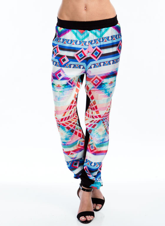 Aztec Chic Joggers PINK