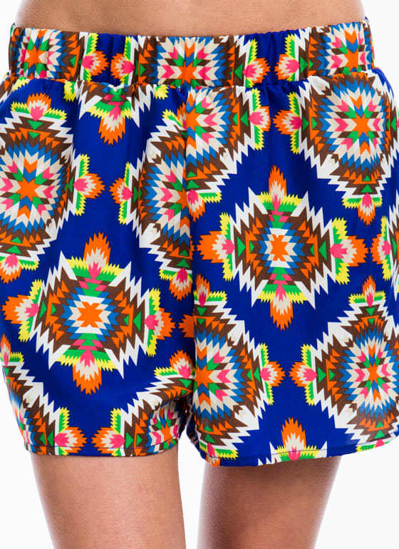 Tribal Times Shorts ROYAL