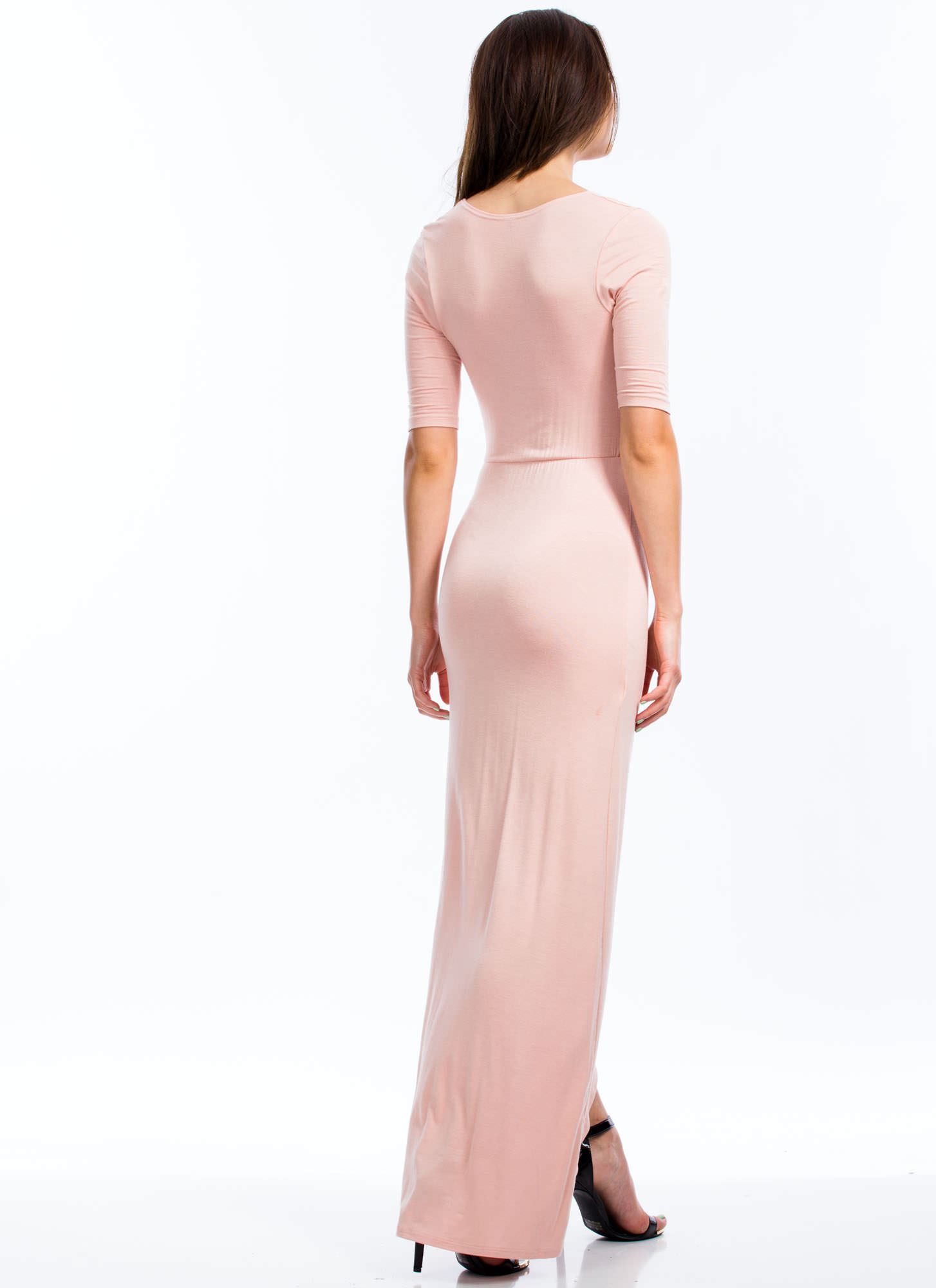 Knotty Girl Maxi Dress BLUSH