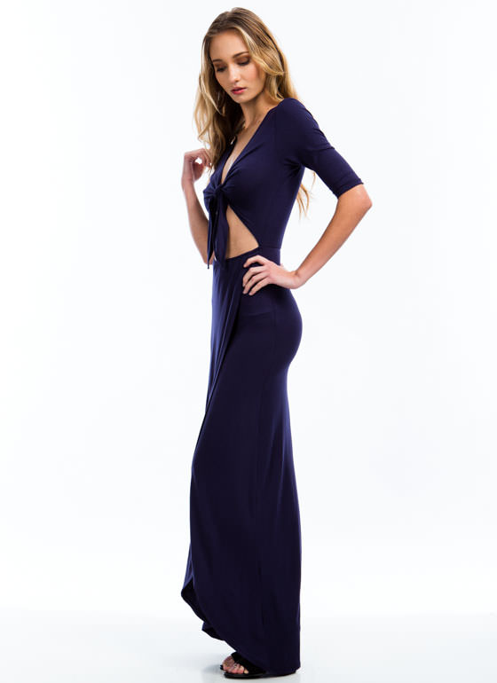 Knotty Girl Maxi Dress NAVY