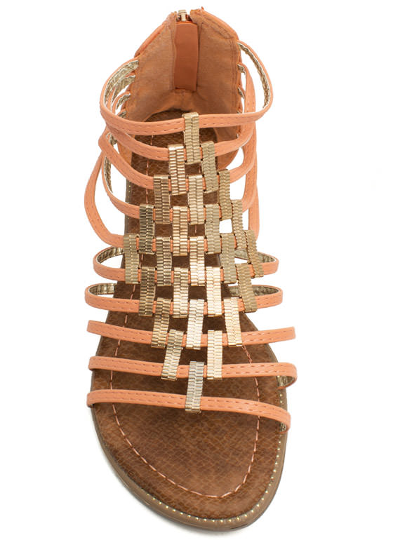 Make A Bracket Strappy Sandals CORAL