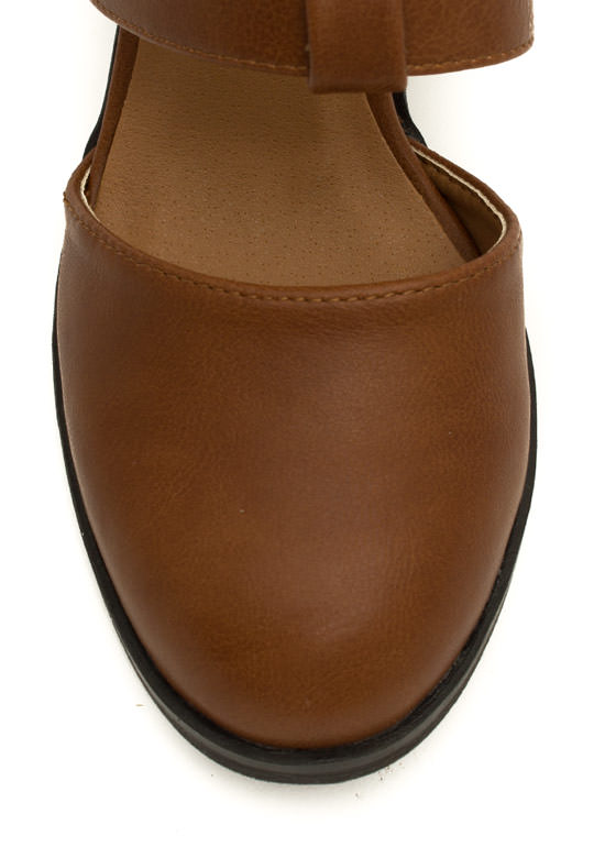 On The Triple Chunky Heels COGNAC