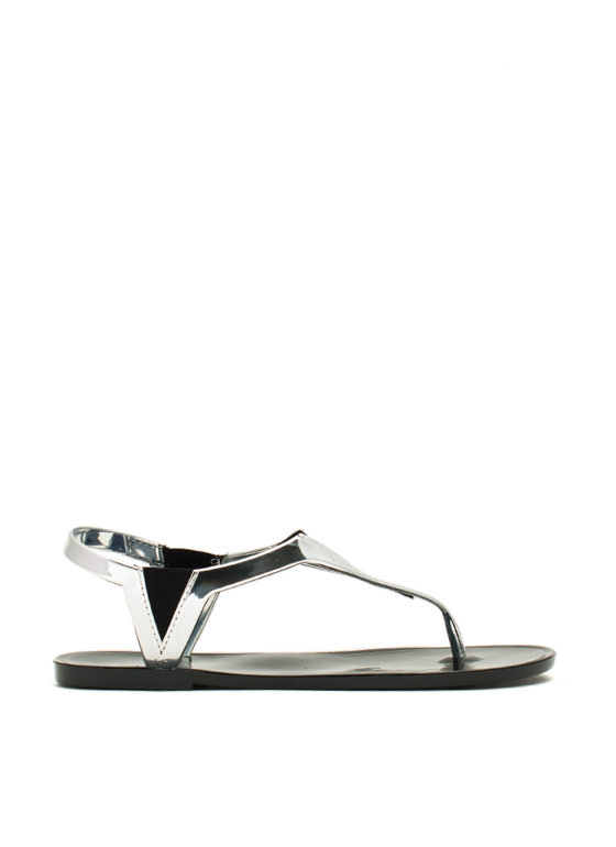 State Of The Dart Jelly Sandals SILVER