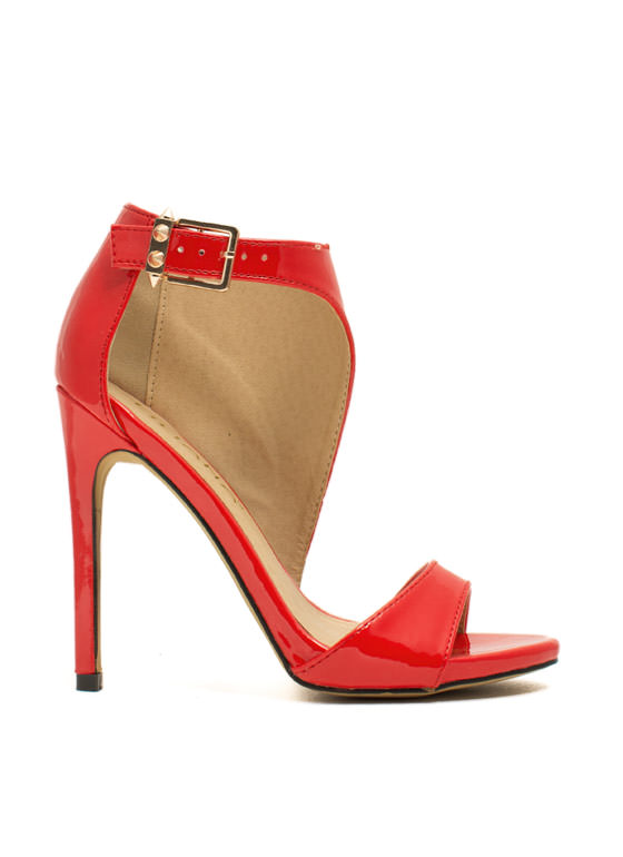 Panel Shield Single-Sole Heels RED