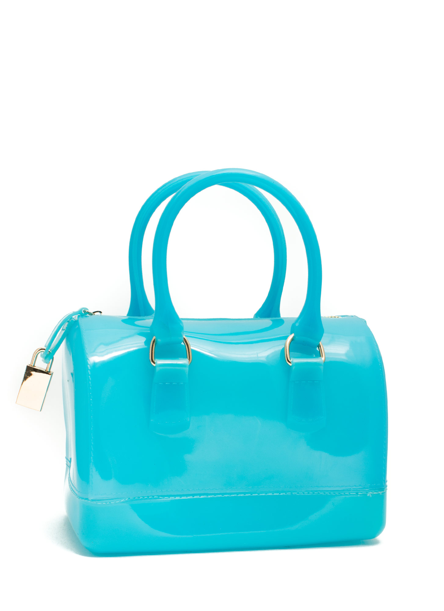 Jelly Mini Bowler Bag BLUE
