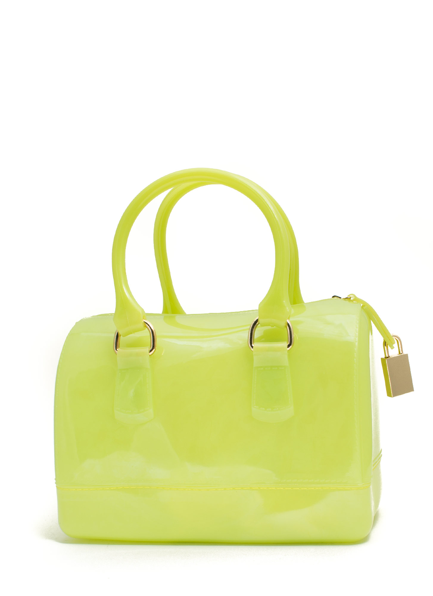 Jelly Mini Bowler Bag NEONYELLOW