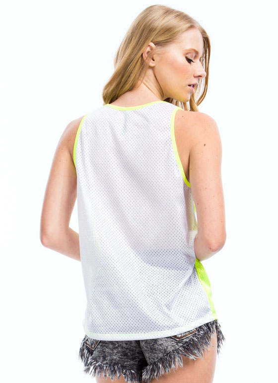 You Nasty Mesh Jersey Tank NEONYELLOW