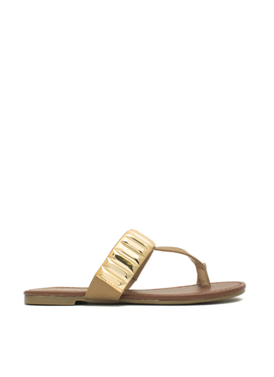 Plate Time T-Strap Sandals SAND