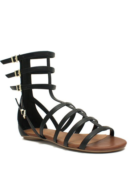 Battle Babe Gladiator Sandals BLACK