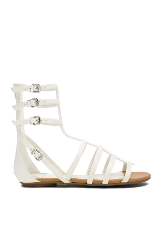 Battle Babe Gladiator Sandals WHITE