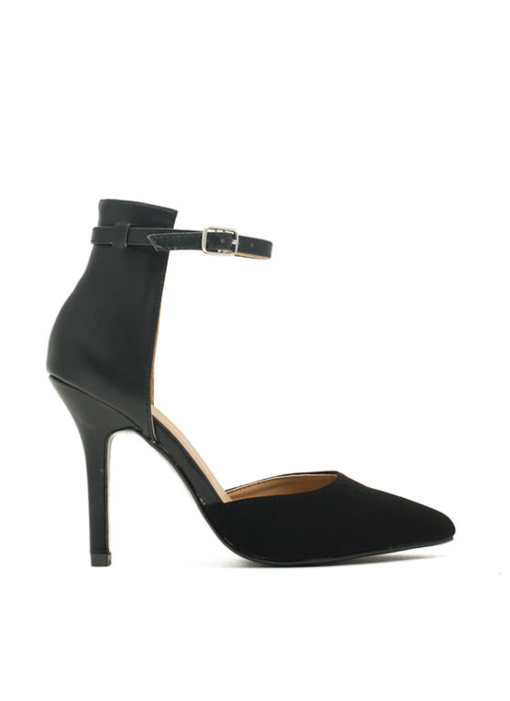 Be A Lady D'Orsay Heels BLACK