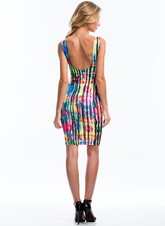 Chase Rainbows Streaky Striped Dress PINK