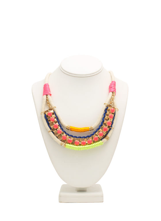 Wrapped N Woven Necklace MULTI