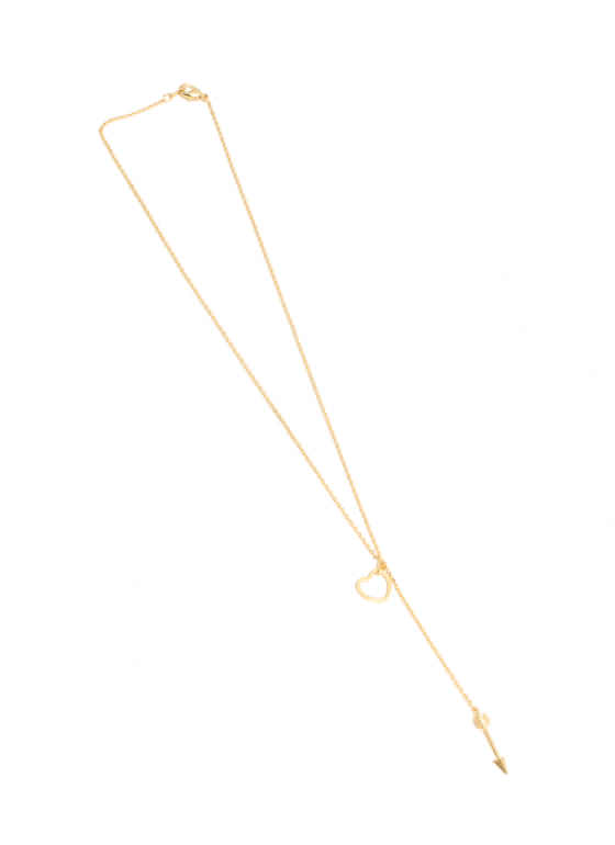 Cupid Heart Necklace GOLD