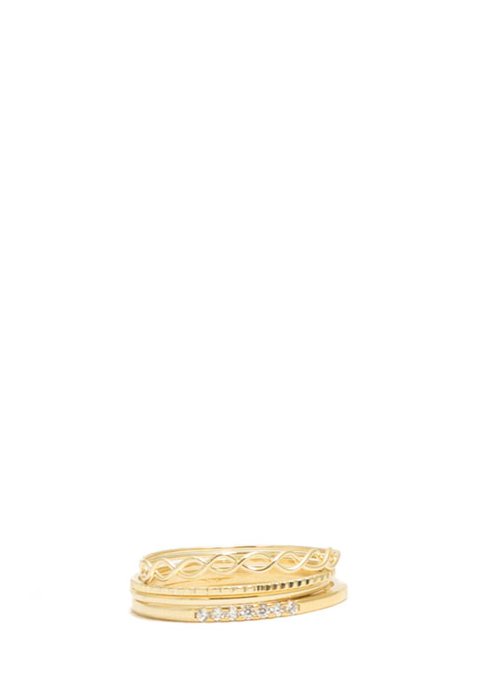 Slim Quad Ring Set GOLD