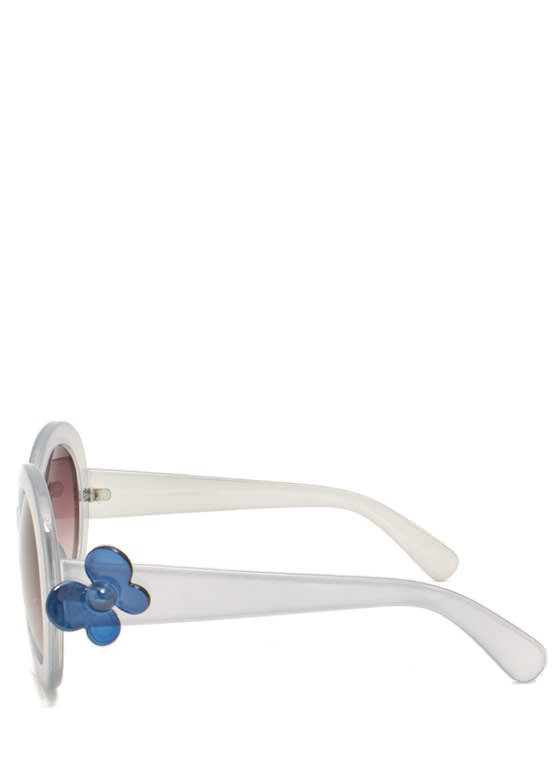 Butterfly Accent Sunglasses GREY